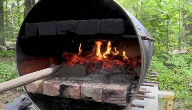 Как сделать печь для пиццы из старой бочки