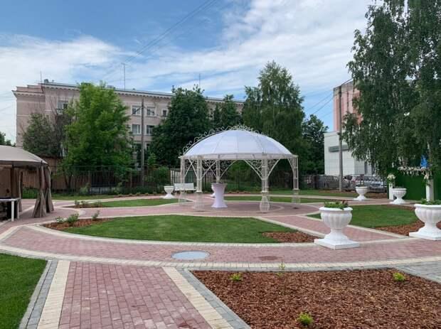 Сквер для проведения церемоний открылся вЗаречном Доме бракосочетания