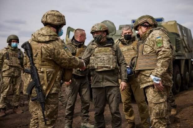 Взадимир Зеленский на Донбассе