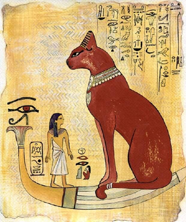 Кот в древнеегипетском стиле.
