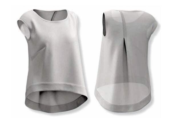 Выкройка футболки с косым кроем