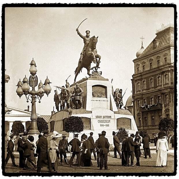 Москва. Памятник генералу М.Д.Скобелеву на Тверской площади, 1913-1917гг