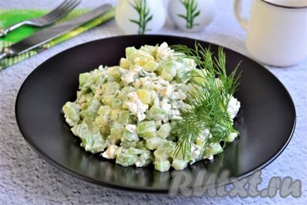 Салат из кабачков с сыром