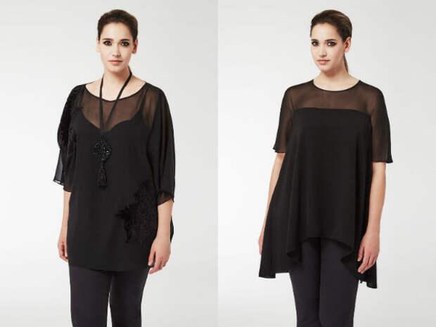 Модные блузки для полных осень-зима 2016-2017 Marina Rinaldi