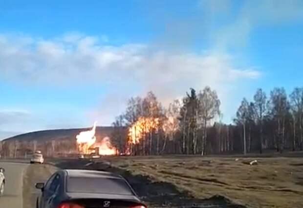 В Башкирии взорвался газопровод