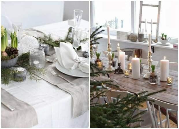 Идеи для сервировки новогоднего стола. \ Фото: google.com.ua.