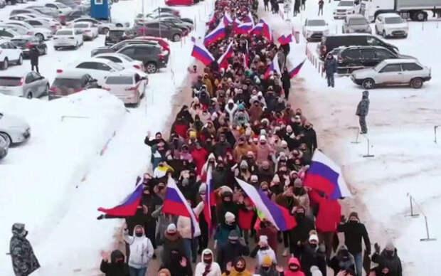 Фальшивые митинги Путина