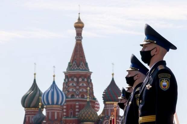 На Красной площади прошла пешая тренировка Парада Победы