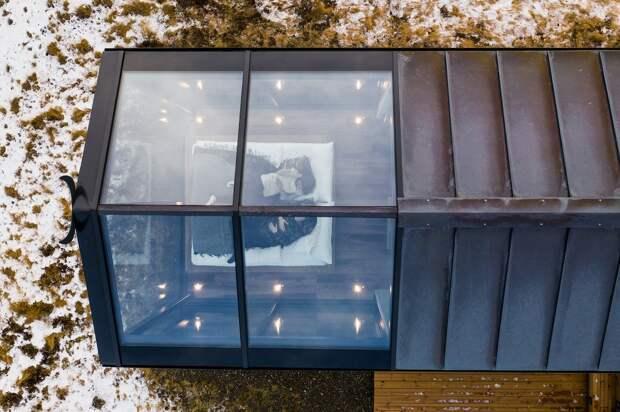 Через окно— кзвездам: вИсландии туристам предлагают провести ночь вдомиках спрозрачными стенами