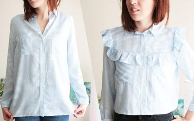 Превращаем простые рубашки в очаровательные женские блузки
