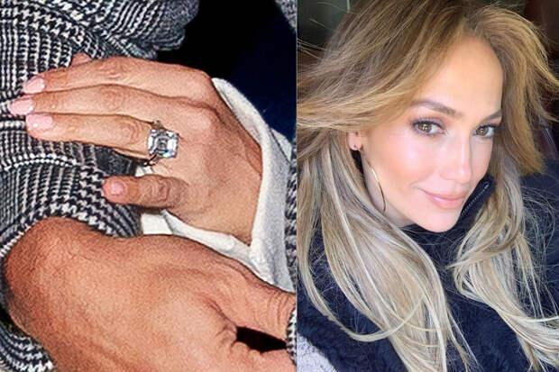 Дженнифер Лопес обручальное кольцо