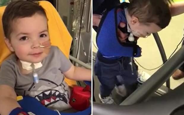 «Это чудо»: мальчик, парализованный редкой болезнью, снова начал ходить