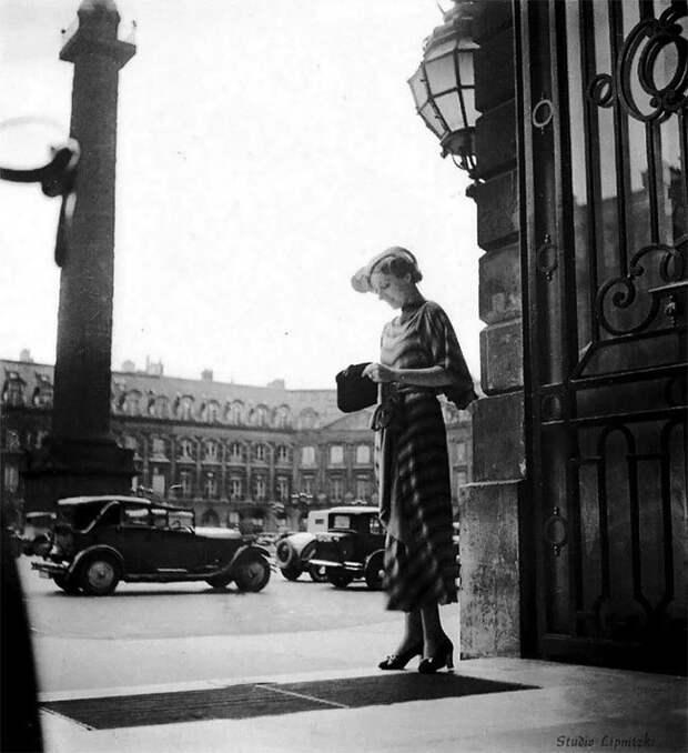 Американка в Париже, 1920-е Стиль, винтаж, двадцатые, женщина, мода, прошлое, улица, фотография
