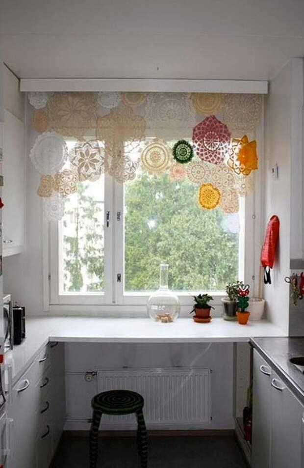 необычые шторы на кухню
