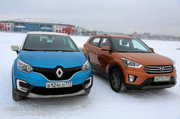 Hyundai Creta против Renault Kaptur: братание на снегу