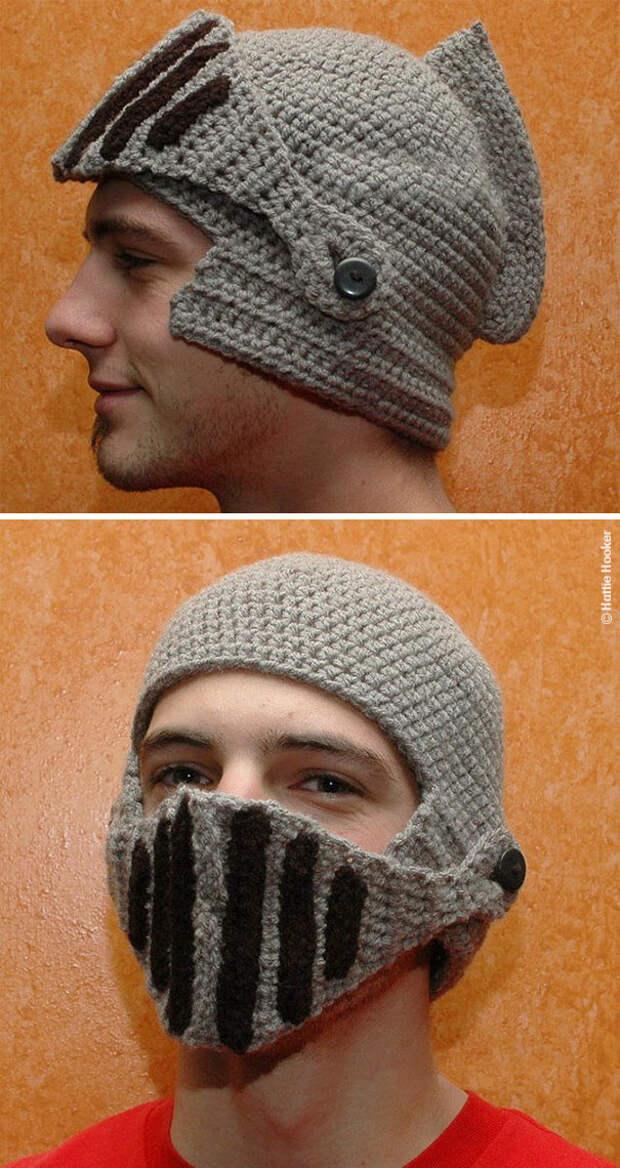 Рыцарский шлем для любимого рыцаря вязание, новый год, подарки