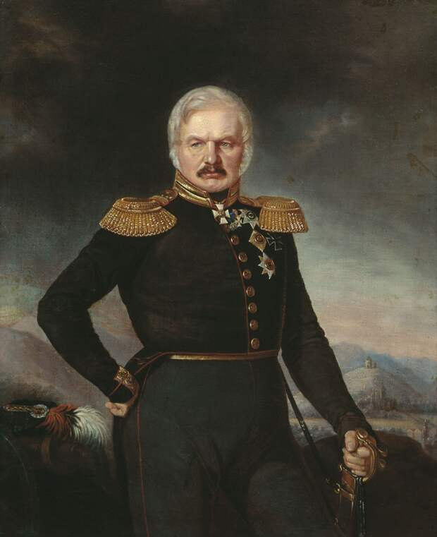 Портрет А. П. Ермолова кисти П. Захарова-Чеченца, примерно 1843 год.