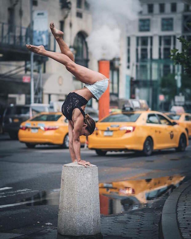 Балерина на улице