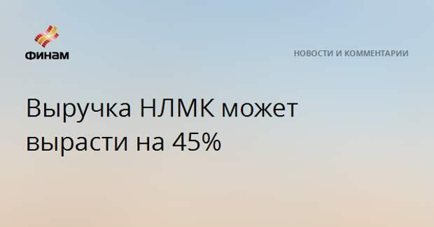 Выручка НЛМК может вырасти на 45%