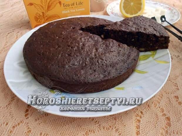 Простой шоколадный пирог Негритенок
