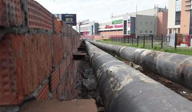 Ремонт водопровода завершают на 50 лет ВЛКСМ в Ижевске