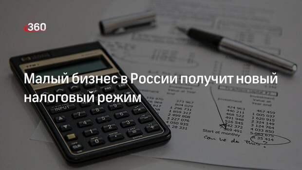 Малый бизнес в России получит новый налоговый режим