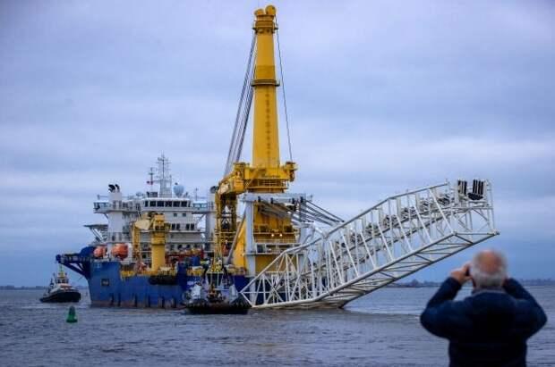 «Академик Черский» приступил к укладке «Северного потока — 2» в водах Дании