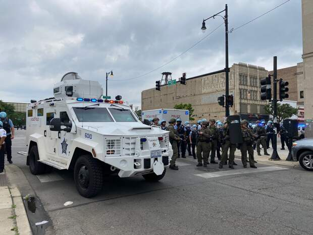 Протесты в Чикаго. 10.08.2020