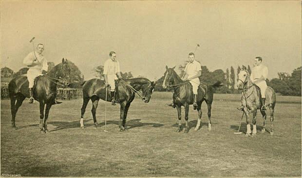 Британские игроки в поло в Индии, 1902 год