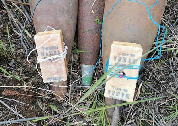 Саперы Амурского общевойскового объединения ВВО уничтожили боеприпасы периода Великой Отечественной войны