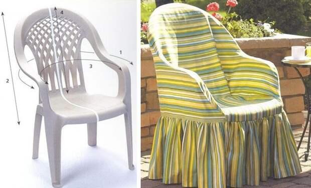 7 идей, как обновить пластиковый стул для дачи