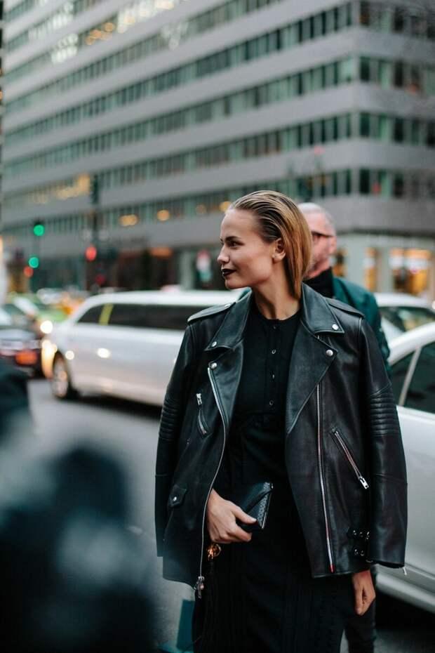 С чем носить байкерскую куртку? /Фото: i.pinimg.com