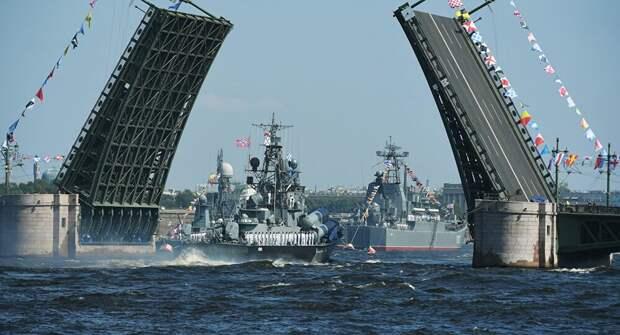 В Киеве предупредили, что суда ВМФ РФ, участвовавшие в параде в Петербурге, разгромят ВМСУ уже в сентябре