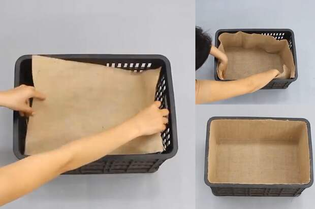 Не постеснялась подобрать пластиковые ящики. С их помощью сделала мебель в комнату