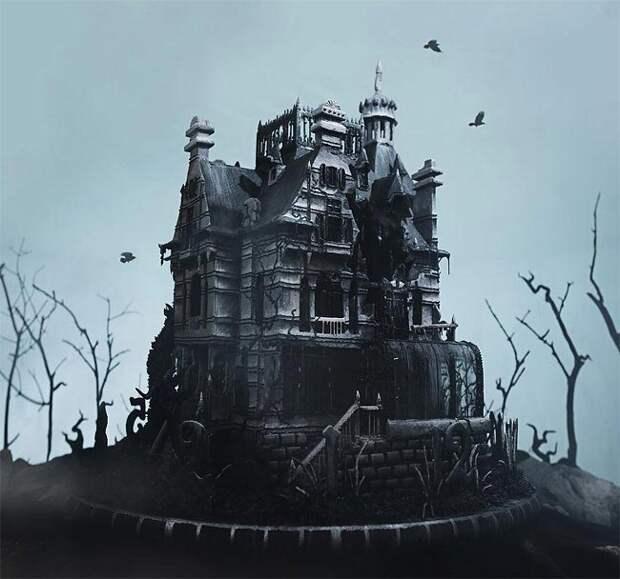 Художница создала съедобную копию дома странных детей из последнего фильма Тима Бёртона