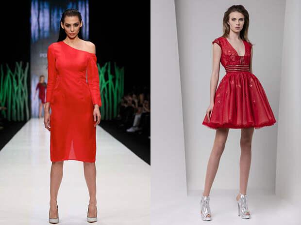 Красные платья на Новый год 2017