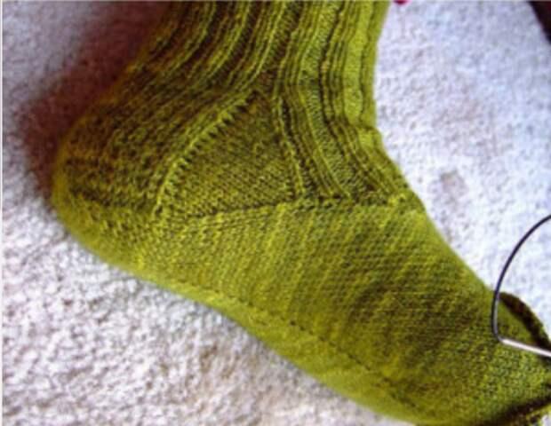 Носки с необычным подъёмом diy