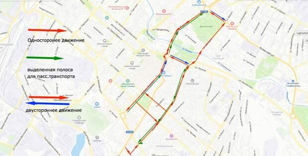 Движение на трех улицах в центре Симферополя может стать односторонним