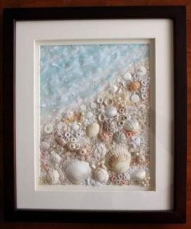 Картины из ракушек – настоящее произведение искусства. Если вы обладаете художественными навыками, то создадите морские шедевры.