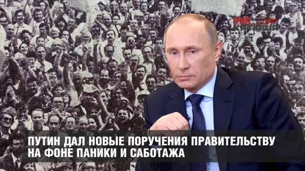 Путин дал новые поручения правительству на фоне паники и саботажа