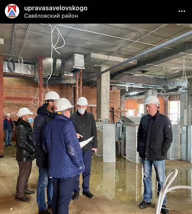 Глава управы посетил строительство школы на 8 Марта