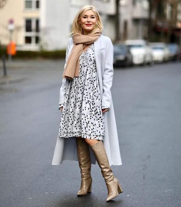 Изысканные образы на весну для женщин 50+ от немецкой модницы