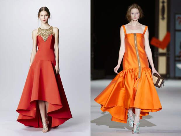 Модные новогодние платья фасона маллет 2017
