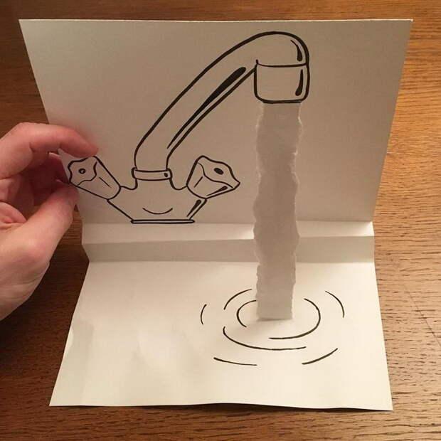Всего-то ручка и бумага, а сколько объема!