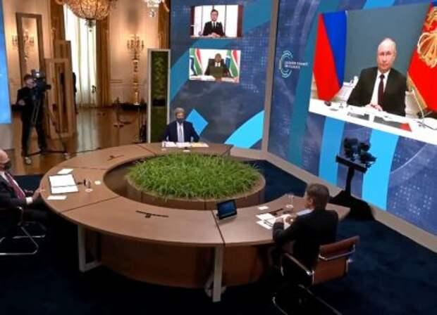 Странная реакция Блинкена на появление Путина на большом экране попала на видео