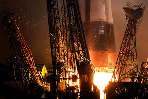 Пуск ракеты «Союз»