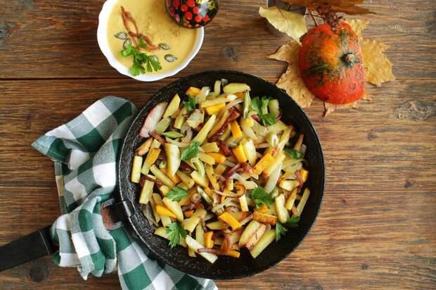 Жаренная картошка с луком. Холостяцкий рецепт