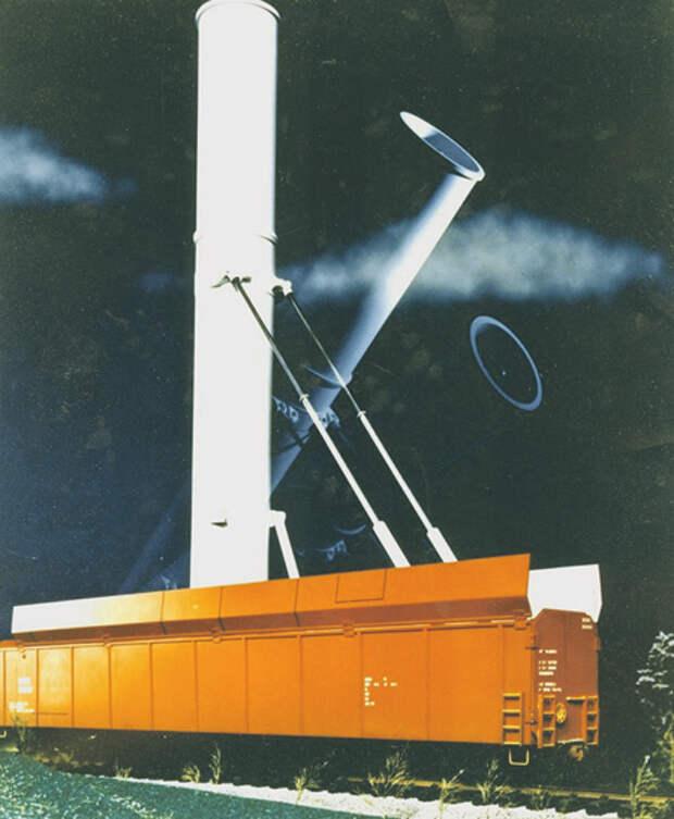 В целом идея вагона – пусковой установки с МБР «Минитмен» I и МХ была аналогична той, что применили советские разработчики. Иллюстрация с сайта www.fas.org