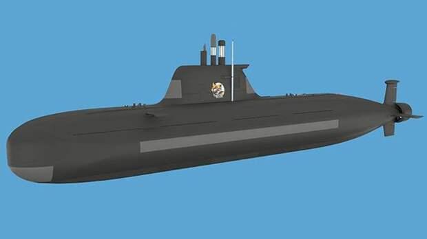 Концепт-проект неатомной подлодки П-750Б «Сервал»