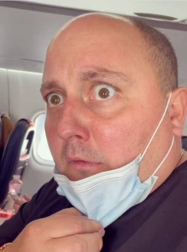 """Ткач из """"Квартал 95"""" поразил кадрами на борту самолета: """"Пункт назначения"""""""